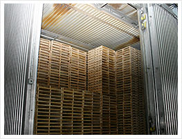 Heat Treated Dried pallets storage
