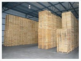 Dried pallets storage